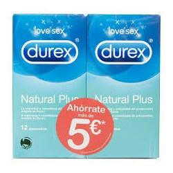 Durex natural plus pack 12 preservativos + 12 preservativos