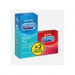 Durex natural plus 12 preservativos + 3 preservativos contacto suave