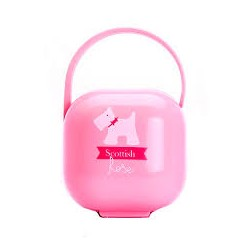Suavinex portachupetes Scottish color rosa