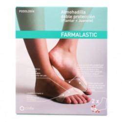 Farmalastic almohadilla doble protección(Plantar + Juanete) 2 Uds.