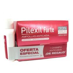 Pilexil forte 15 + 5  ampollas anticaída + champú regalo