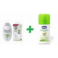 Chicco dispositivo doméstico antimosquitos + spray repelente 100 ml