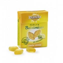 Juanola perlas balsámicas sabor limón verde sin azucar 25 gramos