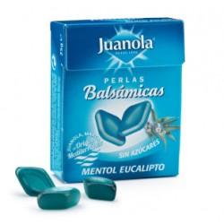 Juanola perlas balsámicas sabor mentól eucalipto sin azucar 25 gramos