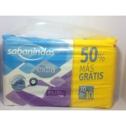 Sabanindas protector absorbente 80 x 180 cm 20+10 unidades