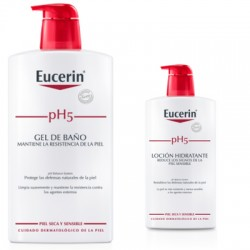 Eucerin pH5 Skin-Protection gel de baño 1000 ml + loción 200 ml