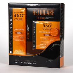 Heliocare 360º Gel oil-free SPF 50+ Bronze intense + Cushion SPF 50 Bronze intense Pack